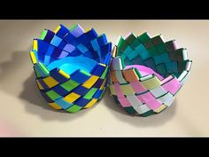 Diy Paper, Paper Crafts, Diy Crafts, Origami Easy, Paper Plates, Decorative Bowls, Crafts For Kids, Crochet, Handmade