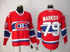 Montreal Canadiens 79 Andrei MARKOV Home Jersey