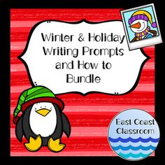 Winter & Holiday Writing Prompts and How to Bundle Winter Activities, Writing Activities, Winter Holidays, Christmas Holidays, Christmas Writing, Broken Families, Social Thinking, Family Traditions, Writing Prompts
