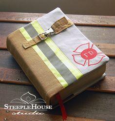 Custom Made Firefighter Bunker Gear Bible by SteepleHouseStudio