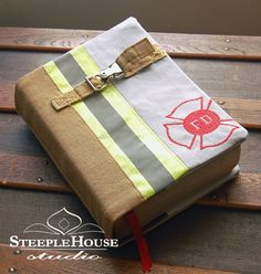 Custom Made Firefighter Bunker Gear Bible by SteepleHouseStudio