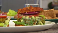 Chickpea Veggie Burgers  Makes 4 servings Prep time: 15 minutes Cook time: 15 minutes  Ingredients 11⁄2 cups canned chickpeas, drained and rinsed 1⁄2 cup chopped mint 1⁄2 cup chopped parsley 1⁄2 cup chopped cilantro 1 teaspoon ground cumin 1 scoop Rocco's Protein Baking Mix or your favorite baking mix (such as Bob's Red …