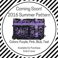 Announcing our 2016 Summer Limited Edition Pattern.... BUBBLES! How cute are these?! Our fun new Limited Edition Dream Duffel pattern will come in pink, purple, blue, or teal and will be available for purchase at the end of June. Sorry, no pre-orders. #DreamDuffel #LimitedEdition #DDBubbles