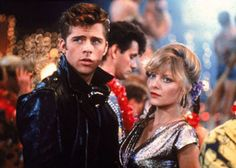 Michelle Pfeiffer in Grease 2 Grease 2, Grease Play, Grease Movie, Teen Movies, Good Movies, Tv France, Maxwell Caulfield, Grease Outfits, Grease Is The Word