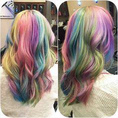 Instagram media pastelvioletcake - Lookit what @missmadisparkels did to my haiirr r ; A;  ahhh h ♡ ♡♡ ♡ ♡