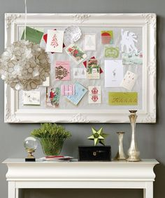 christmas card pin board framed house and home magazine canada