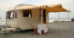 vintage trailers, beaches, caravan, camping, dream, beach houses, at the beach, sea, vintage campers