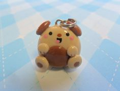 Kawaii Puppy Charm Cute Polymer Clay Novelty by JollyCharms, $6.00