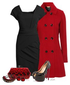 """""""Black and Red"""" by christa72 ❤ liked on Polyvore featuring Jane Norman, Christian Louboutin, Judith Leiber, Givenchy and Nali"""