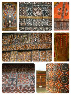 Toraja style house decor, Sulawesi / Indonesia Indonesian House, Indonesian Art, Asian Interior, Interior And Exterior, Borneo, Tribal Prints, Traditional House, Southeast Asia, Color Inspiration