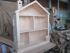 Купить Деревянный кукольный домик - бежевый, кукольный дом, кукольный домик, домик для кукол