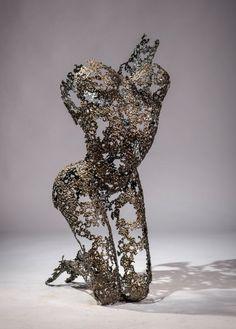 Metal Torsos Sculptures by Nimrod Messeg