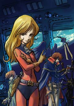 I need a man who looks at me as harlock looks at the glass of wine Old Cartoons, Classic Cartoons, Queen Emeraldas, Old Cartoon Characters, Space Pirate Captain Harlock, Female Villains, Japanese Superheroes, Star Blazers, China Girl