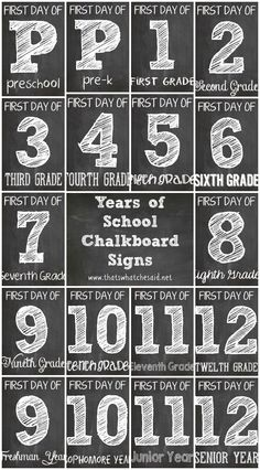 FREE Chalkboard Firs