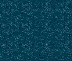 vague_pointillée_marine_ciel_M fabric by nadja_petremand on Spoonflower - custom fabric
