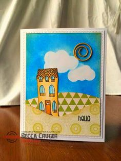 The Damsel of Distressed Cards: Polka Dotty Hills - STAMPlorations Sketch Challenge