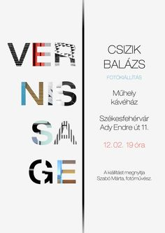 Vernissage Invitation Card Invitation card design for a photography exhibition…