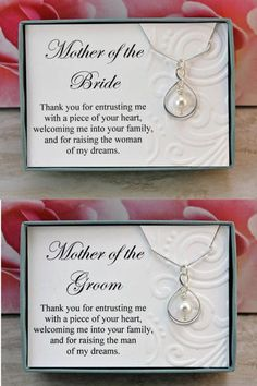 Mother of the Bride necklace gift from Groom Sterling silver infinity necklace Swarovski crystal pearl wedding necklaces, wedding jewelry - Mother of the Bride necklace gift from Groom Sterling silver Wedding Gifts For Parents, Gifts For Wedding Party, Bridal Gifts, Our Wedding, Dream Wedding, Gifts For Grooms Parents, My Perfect Wedding, Mother Wedding Gifts, Wedding Gift For Groom