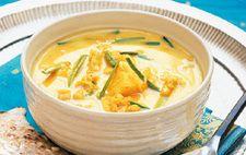 Kryddig fisksoppa med chapati (ska vara matlagningsgrädde inte laga lätt)