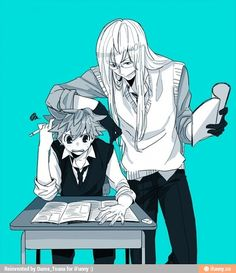 """""""squalo idk how 2 confess to homura"""" """"Well son i can teach you some bae moves that will surely make her go doki doki too"""""""
