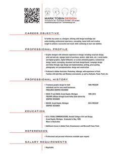 MET Visual Resume by Mark Tobin, via Behance