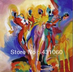 High quality,Wall,Jazz Explosion,Alfred Gockel painting,custom,20 x 20inch,Decorative Painting,Hand-painted,Modern,oil on canvas(China (Mainland))