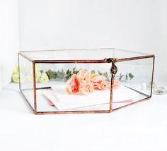 Wedding Card Box Envelope Holder Glass Box by jacquiesummer