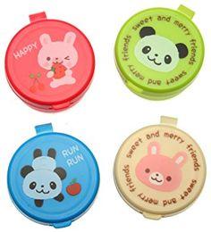 Kotobuki Condiment Containers for Bento Box, Mini, Animal Friends