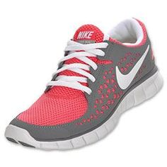 Nike Free Run+ Women's Running Shoe pink and grey(;