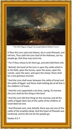 Exodus 9 1-7 King James Bible - painting 'The Fifth Plague of Egypt' by Joseph Mallord William Turner
