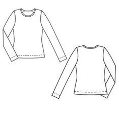 Пуловер - выкройка № 106 B из журнала 2/2011 Burda – выкройки пуловеров на Burdastyle.ru