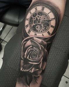 pocket watch tattoo48