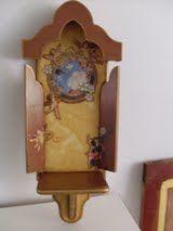 oratório Crucifix, Alters, Decoupage, Clock, Wall, Home Decor, Craft, Public Speaking, Crates