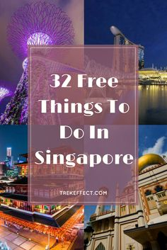 Best list of free things - From a spectacular light show to exciting nature trips, there are dozens of cool freebies in Singapore that can put you into a state of euphoria. Here are 32 things that you anyone can enjoy in Singapore for free. Singapore Travel Tips, Singapore Guide, Singapore Itinerary, Visit Singapore, Singapore Malaysia, Singapore Trip, Singapore Travel Outfit, Malaysia Travel, Singapore
