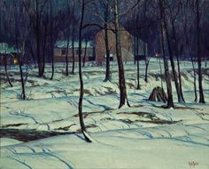 """""""The Neighbors,"""" George W. Sotter, oil on canvas, 26 x 32"""", Jim's of Lambertville."""