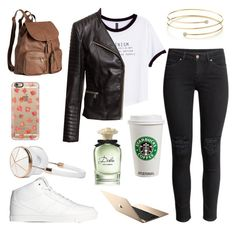 """""""Fall outfit"""" by fleur-tje on Polyvore featuring mode, H&M, Casetify, Frends, Elsa Peretti en Dolce&Gabbana"""