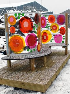 Denbigh Primary, North Shields-Seating Pod In Snow Summer Arts And Crafts, Arts And Crafts For Adults, Easy Arts And Crafts, Easy Diy Crafts, Diy Crafts For Kids, Art For Kids, Outdoor Learning Spaces, Outdoor Spaces, Playground Design