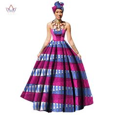 Image of Womens African Dress Dashikis Print Ball Gown Party Dress, Maxi and Strapless Women gown with Free Headwear Plus - without Necklace African Fashion Designers, African Men Fashion, Africa Fashion, African Fashion Dresses, African Outfits, Fashion Outfits, African Beauty, Fashion Tips, African Party Dresses