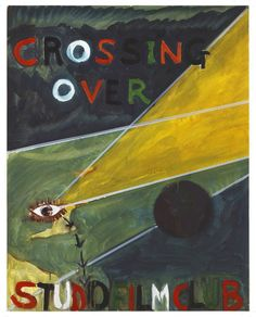 """""""CROSSING OVER"""" (CHRISTOPHER LAIRD)  2005 [""""Crossing Over"""" TT/ GH 1988, 58', R / D: Christopher Laird] Sammlung Ringier oil on paper 72 x 57 cm / 28 x 22"""" PETER DOIG."""