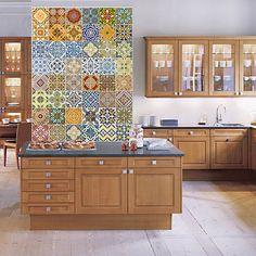 Adesivos de Parede 48 Azulejos Vintage Stixx Adesivos Criativos Colorido (91,4x122cm)