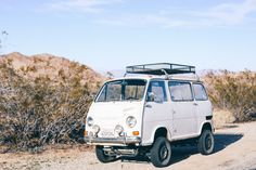 Vintage Subaru in Joshua Tree National Park