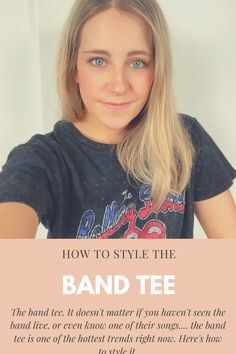 Love the band tee trend? Well it's not going anywhere, so here's tips on how to style a graphic tee or band tee! The Band Songs, Band Tees, Graphic Tees, Mint, Blog, Shirts, Style, Swag, Band T Shirts