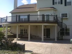 www.anotheramazingdeck.com trex transcend curved deck with spiral staircase