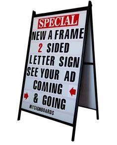 Sidewalk A Frame Signs A Frame Portable Changeable Letter Sidewalk