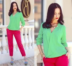 Раздельно комплиментарное Color Mixing, Color Combinations, Ruffle Blouse, Long Sleeve, Sleeves, Tops, Women, Style, Colours