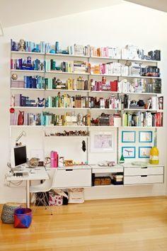 Color Coded Bookshelf