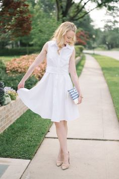 Mothers Day is the perfect time to wear the must have dress of the summer, a white shirt dress.