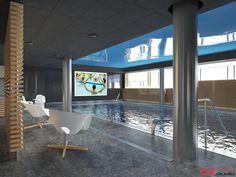 BRISTOL ART & SPA Sanatorium in Busko Zdroj, Poland. Design and Renderings of the Indoor Swimming pool.