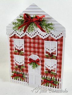 Christmas House by kittie747 - Cards and Paper Crafts at Splitcoaststampers  gotta try this one!