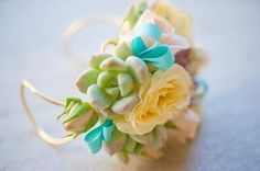 Wrist corsage for the mother of the bride. By Cherry Photography